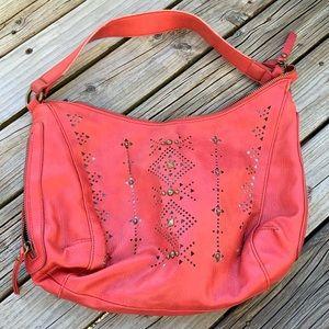 Lucky Brand Red Hobo Handbag ~ See Description ~